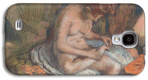 Nudes Pastels Galaxy S4 Cases - The Splinter Galaxy S4 Case by Edgar Degas