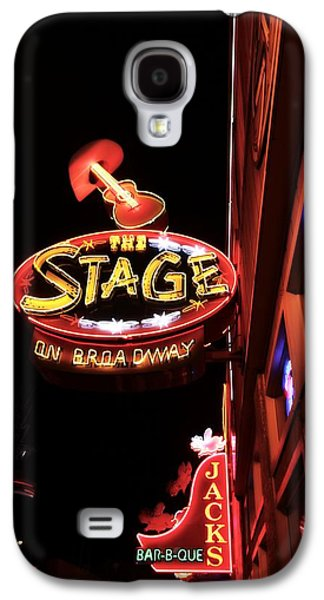 The Stage On Broadway In Nashville Galaxy S4 Case by Dan Sproul