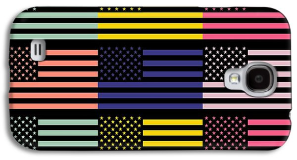 Waving Flag Mixed Media Galaxy S4 Cases - The star flag Galaxy S4 Case by Toppart Sweden