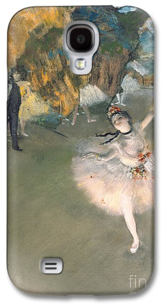 Ballet Dancers Paintings Galaxy S4 Cases - The Star or Dancer on the stage Galaxy S4 Case by Edgar Degas