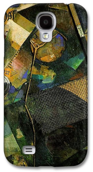 Cardboard Mixed Media Galaxy S4 Cases - The Star Picture 1920 Galaxy S4 Case by Kurt Schwitters