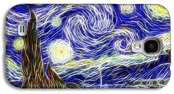 Painter Photo Galaxy S4 Cases - The Starry Night Reimagined Galaxy S4 Case by Adam Romanowicz