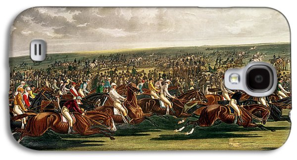 Horse Racing Galaxy S4 Cases - The Start of the Memorable Derby of 1844 Galaxy S4 Case by Charles Hunt