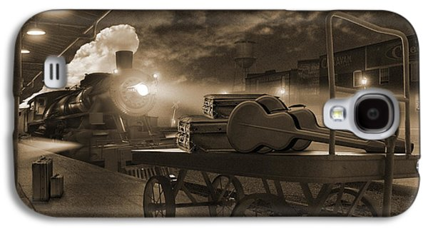 Horse And Cart Digital Art Galaxy S4 Cases - The Station 2 Galaxy S4 Case by Mike McGlothlen
