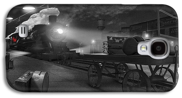 Horse And Cart Digital Art Galaxy S4 Cases - The Station - Panoramic Galaxy S4 Case by Mike McGlothlen