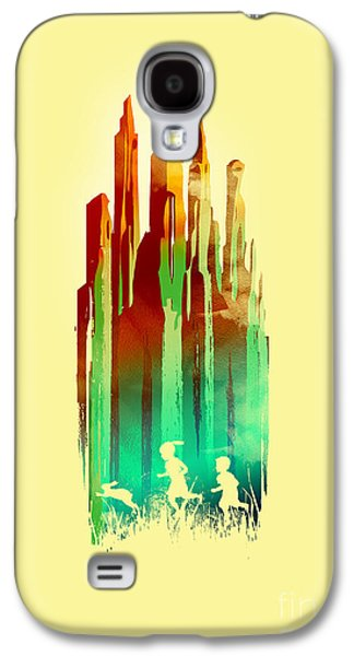 Surreal Landscape Galaxy S4 Cases - The stone castle Galaxy S4 Case by Budi Satria Kwan