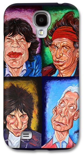 Keith Richards Galaxy S4 Cases - The ROLLING STONES Galaxy S4 Case by Dan Haraga