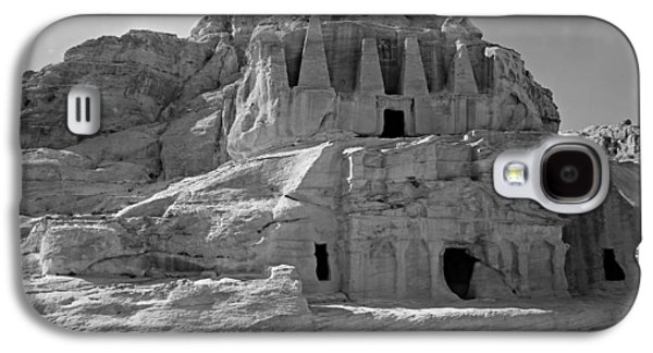 Nabatean Galaxy S4 Cases - The Stones Still Speak - BW Galaxy S4 Case by Stephen Stookey