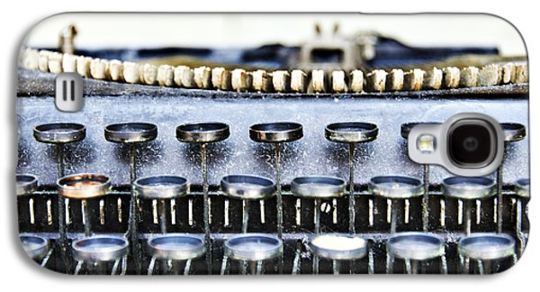 Typewriter Keys Photographs Galaxy S4 Cases - The Story Told 1 Galaxy S4 Case by Angelina Vick