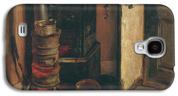 Coins Photographs Galaxy S4 Cases - The Stove Oil On Canvas Galaxy S4 Case by Ferdinand Victor Eugene Delacroix