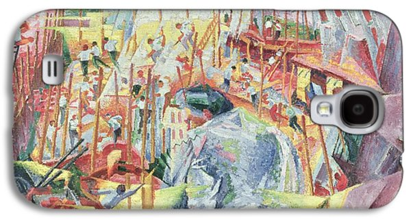 Man Looking Down Galaxy S4 Cases - The Street Enters the House Galaxy S4 Case by Umberto Boccioni