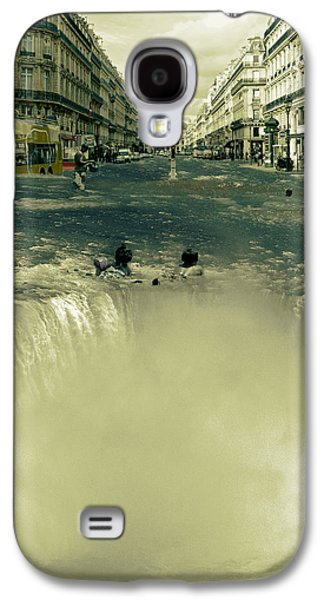 Digital Collage Galaxy S4 Cases - The Street Fall Galaxy S4 Case by Marian Voicu