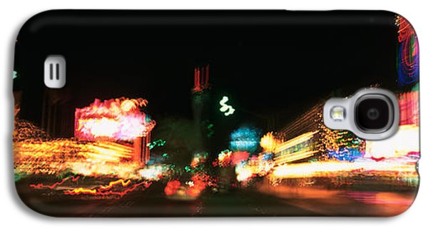 The Strip Galaxy S4 Cases - The Strip At Night, Las Vegas, Nevada Galaxy S4 Case by Panoramic Images