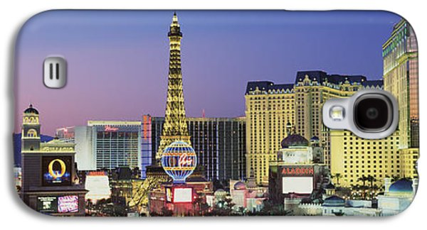 The Strip Galaxy S4 Cases - The Strip Dusk Las Vegas Nv Usa Galaxy S4 Case by Panoramic Images
