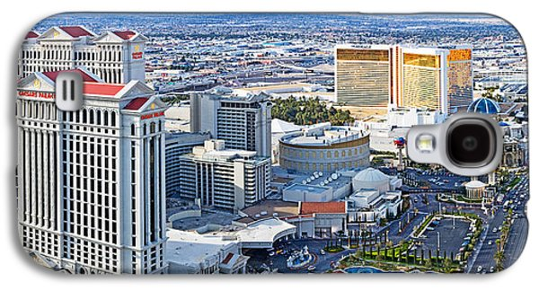The Strip Galaxy S4 Cases - The Strip, Las Vegas, Clark County Galaxy S4 Case by Panoramic Images
