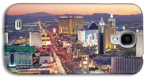 The Strip Galaxy S4 Cases - The Strip Las Vegas Nv Usa Galaxy S4 Case by Panoramic Images