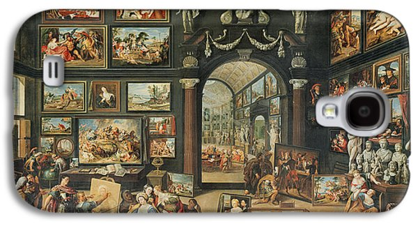 Studio Photographs Galaxy S4 Cases - The Studio Of Apelles Oil On Panel Galaxy S4 Case by Willem van II Haecht