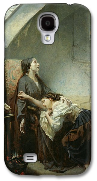 Sadness Paintings Galaxy S4 Cases - The Suicide Galaxy S4 Case by Octave Tassaert