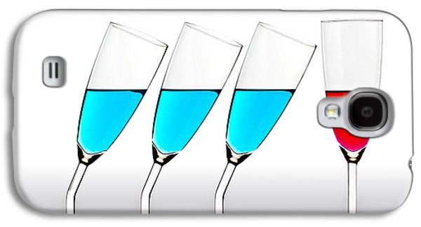 Champagne Glasses Galaxy S4 Cases - The Suitors Galaxy S4 Case by Gert Lavsen