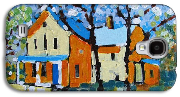 Canadian Heritage Paintings Galaxy S4 Cases - The Summer House Galaxy S4 Case by Marc L Gagnon