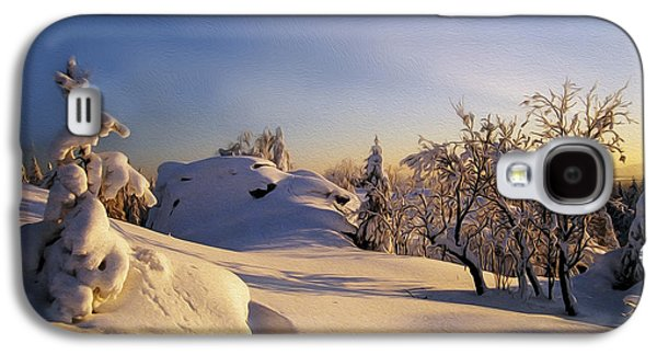 Snowy Digital Art Galaxy S4 Cases - The sunset Galaxy S4 Case by Aged Pixel