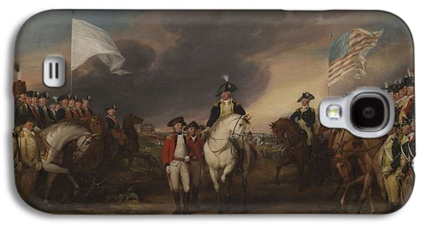 Yorktown Galaxy S4 Cases - The Surrender Of Lord Cornwallis At Yorktown, October 19, 1781, 1787-c.1828 Oil On Canvas Galaxy S4 Case by John Trumbull