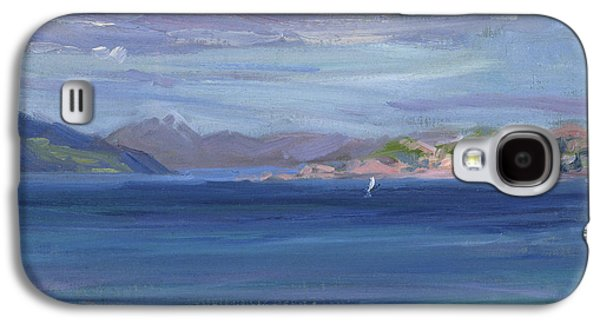 Posters On Paintings Galaxy S4 Cases - The Tail of Mull from Iona Galaxy S4 Case by Francis Campbell Boileau Cadell