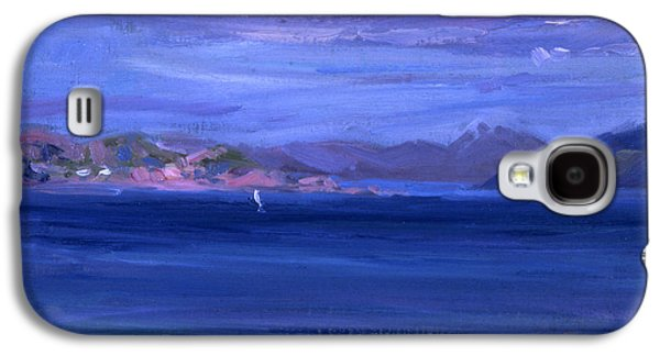 Scotland Paintings Galaxy S4 Cases - The Tale of Mull from Iona Galaxy S4 Case by Francis Campbell Boileau Cadell
