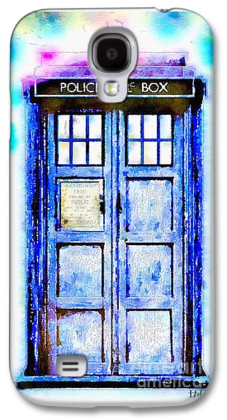 Police Art Paintings Galaxy S4 Cases - The TARDIS Galaxy S4 Case by Helge