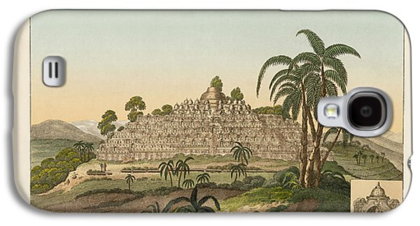 The Temple Of Buddha Of Borobudur In Java Galaxy S4 Case by Splendid Art Prints