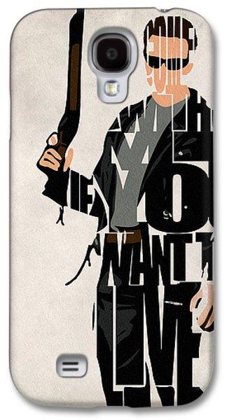 The Terminator - Arnold Schwarzenegger Galaxy S4 Case by Ayse Deniz