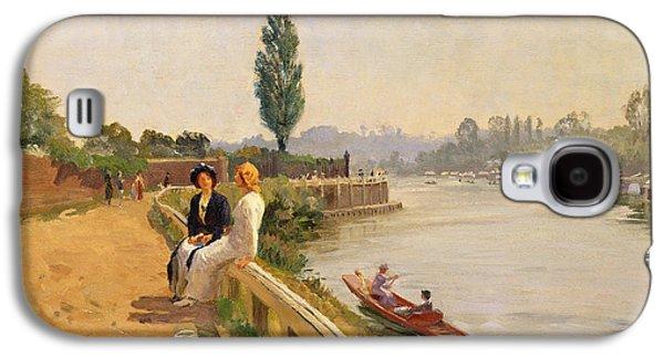 Hamptons Galaxy S4 Cases - The Thames at Hampton Court Galaxy S4 Case by John Arthur Black