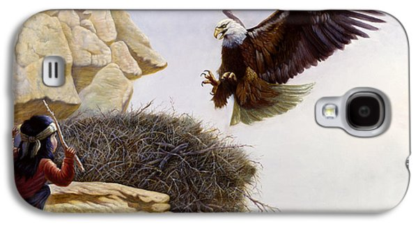 Wilderness Paintings Galaxy S4 Cases - The Thief Galaxy S4 Case by Gregory Perillo