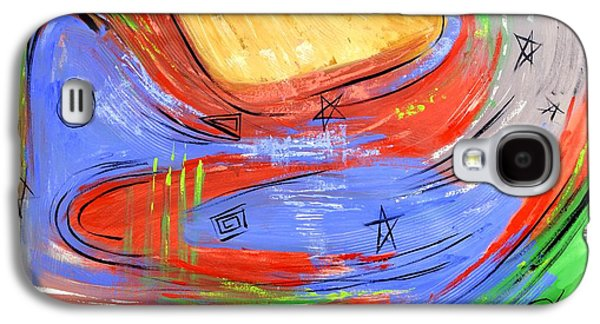 Abstract Expressionist Galaxy S4 Cases - The Third Heaven Galaxy S4 Case by Anthony Falbo