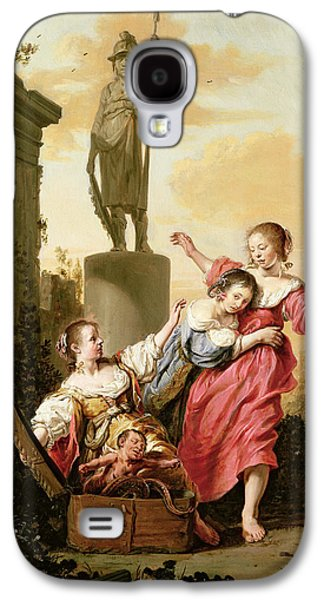 Serpent Galaxy S4 Cases - The Three Daughters Of Cecrops Discovering Erichthonius Galaxy S4 Case by Salomon de Bray