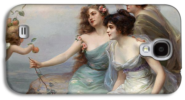 Grey Clouds Galaxy S4 Cases - The Three Graces Galaxy S4 Case by Edouard Bisson