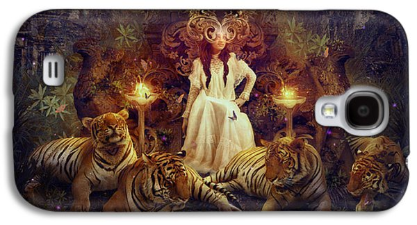 Phantasie Digital Art Galaxy S4 Cases - The Tiger Temple Galaxy S4 Case by Cassiopeia Art