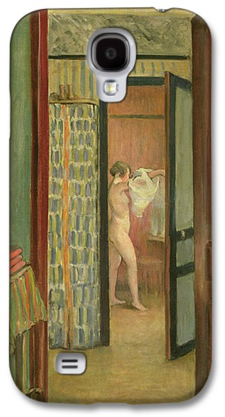 Change Paintings Galaxy S4 Cases - The Toilet Galaxy S4 Case by Henri Lebasque