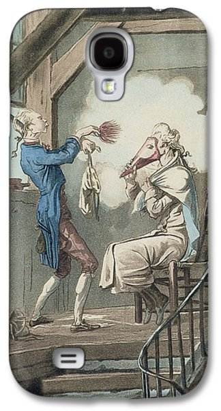 Dressing Room Galaxy S4 Cases - The Toilet Of An Attorneys Clerk Galaxy S4 Case by Antoine Charles Horace Vernet