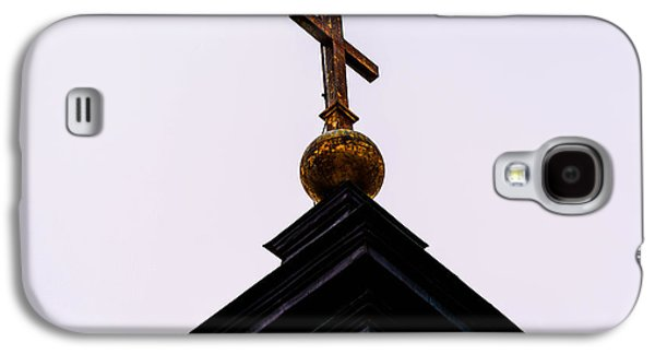 Copy Mixed Media Galaxy S4 Cases - The top of a church cross Galaxy S4 Case by Toppart Sweden