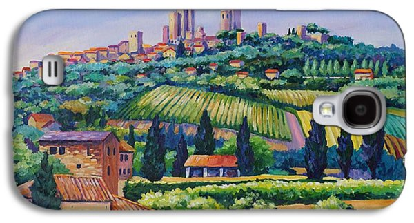 Gothic Paintings Galaxy S4 Cases - The Towers of San Gimignano Galaxy S4 Case by John Clark