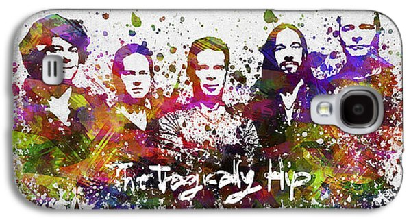 Famous Band Galaxy S4 Cases - The Tragically Hip in Color Galaxy S4 Case by Aged Pixel