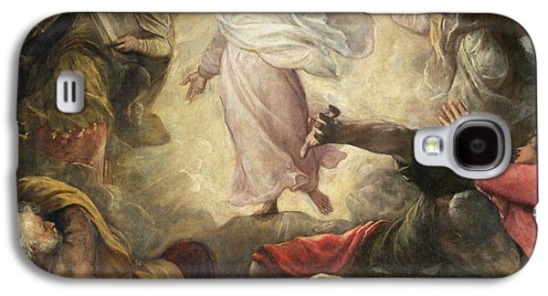 Inspired Paintings Galaxy S4 Cases - The Transfiguration of Christ Galaxy S4 Case by Titian