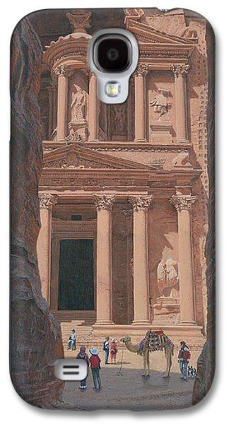 Petra Galaxy S4 Cases - The Treasury Petra Jordan Galaxy S4 Case by Richard Harpum