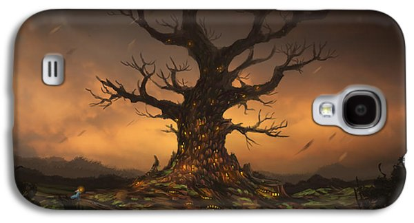 Phantasie Digital Art Galaxy S4 Cases - The Tree Galaxy S4 Case by Cassiopeia Art