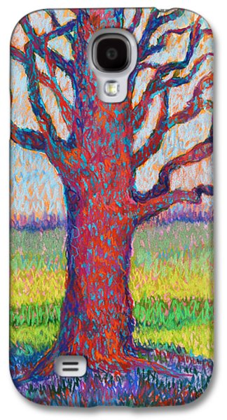Abstract Landscape Pastels Galaxy S4 Cases - The Tree of Longevity Galaxy S4 Case by Billie Colson