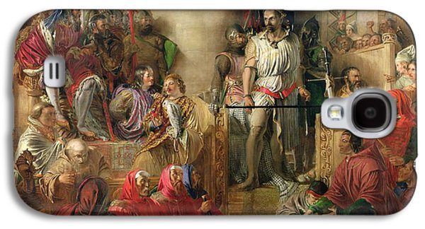Scottish Dog Galaxy S4 Cases - The Trial Of Sir William Wallace At Westminster Oil On Canvas Galaxy S4 Case by William Bell Scott