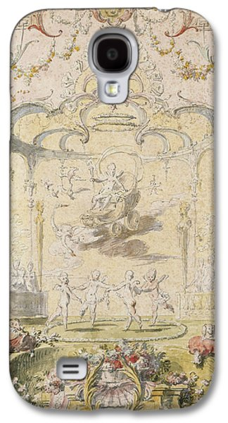 Cupid Galaxy S4 Cases - The Triumph Of Love Ink & Wc On Paper Galaxy S4 Case by Claude Gillot