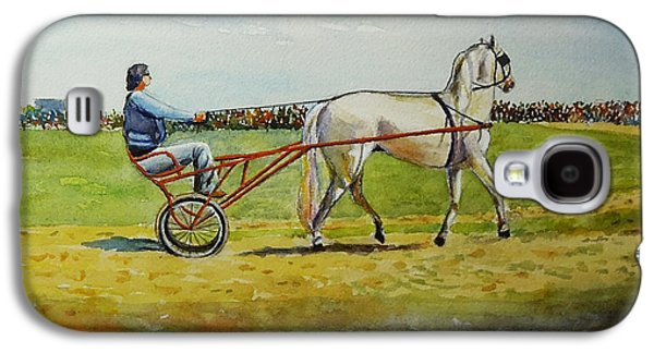 Horse And Buggy Paintings Galaxy S4 Cases - The Trotter Galaxy S4 Case by John Pirnak