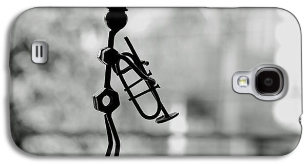 Black Sculptures Galaxy S4 Cases - The Trumpet Player Galaxy S4 Case by Mountain Dreams